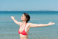 Woman in swimsuit Royalty Free Stock Photography