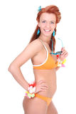 Woman in swimsuit and sunglasses Royalty Free Stock Photo