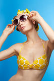 Woman in swimsuit Royalty Free Stock Images