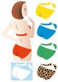 A woman on a swimwear Royalty Free Stock Photo