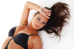 Woman in swimwear Stock Images