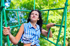 Woman on a swing Stock Image