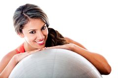 Woman with a Swiss ball Stock Photos