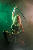 Woman and sword Stock Photography