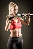 Woman With Sword Stock Photography