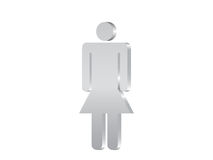 Woman symbol 3d Stock Images