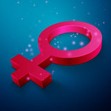 Woman symbol Royalty Free Stock Image