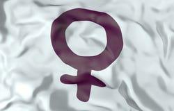 Woman symbol flag 3d illustration Stock Image