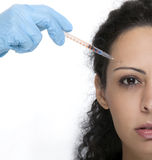 Woman with syringe Royalty Free Stock Photo
