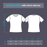 Woman t-shirt polo Stock Photography