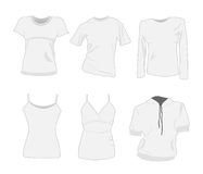 Woman  t-shirt templates Royalty Free Stock Photography