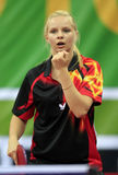 Woman table tennis Stock Images