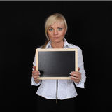 Woman tablet Royalty Free Stock Photography