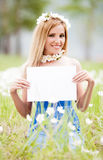 Woman with tablet Royalty Free Stock Images