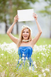Woman with tablet Royalty Free Stock Photo