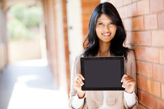 Woman tablet computer Royalty Free Stock Photography