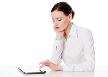 Woman with tablet computer Stock Images