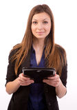 Woman with tablet computer Royalty Free Stock Photo