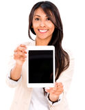 Woman with a tablet computer Stock Photo