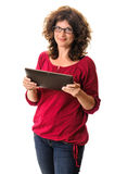 Woman with tablet computer Stock Photos