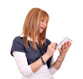 Woman with tablet pc Royalty Free Stock Images