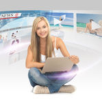 Woman with tablet pc Stock Photography