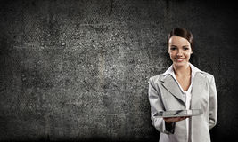 Woman with tablet pc Royalty Free Stock Photography