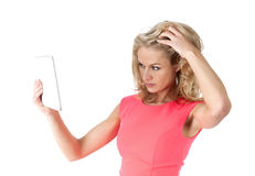 Woman with tablet pc Stock Image