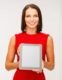 Woman with tablet pc Royalty Free Stock Image
