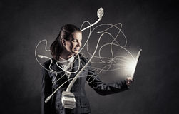 Woman with tablet pc Royalty Free Stock Photo