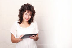 Woman with a Tablet PC Stock Photography