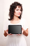 Woman with a Tablet PC Stock Photo