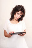 Woman with a Tablet PC Royalty Free Stock Photography