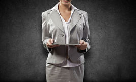 Woman with tablet pc Stock Photos