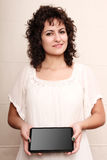 Woman with a Tablet PC Royalty Free Stock Image