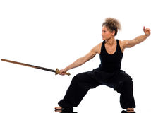 Woman tai chi Stock Photos