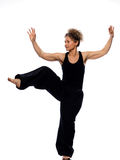 Woman tai chi Stock Images