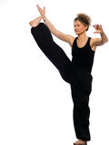 Woman tai chi Stock Photo