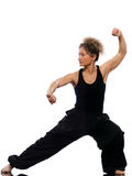 Woman tai chi chuan tadjiquan posture position Stock Images