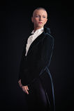 Woman in tailcoat Royalty Free Stock Photography