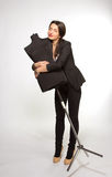 Woman tailor holding on Mannequin Royalty Free Stock Images