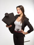 Woman tailor holding on Mannequin Royalty Free Stock Photography