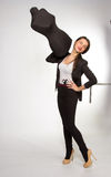 Woman tailor holding on Mannequin on a shoulder Royalty Free Stock Photos