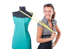 Woman tailor Stock Photo