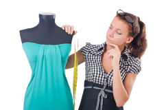 Woman tailor Royalty Free Stock Images