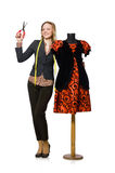 Woman tailor Royalty Free Stock Image