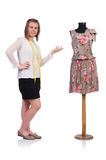 Woman tailor isolated Stock Image