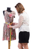 Woman tailor isolated Royalty Free Stock Images