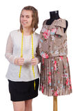 Woman tailor isolated Royalty Free Stock Image
