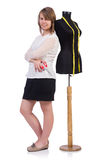 Woman tailor isolated Stock Photo